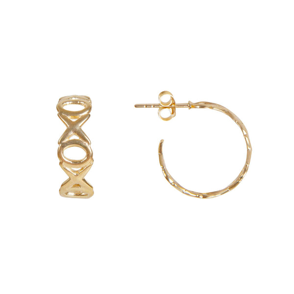 Earrings Gold Alexa Kiss Hug Hoop