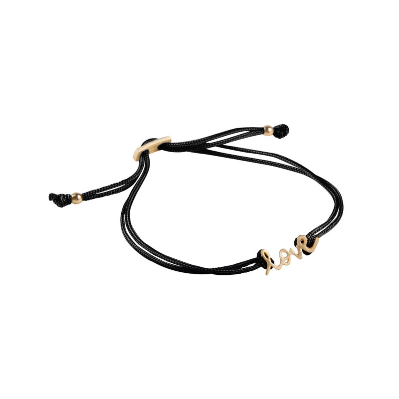 Bracelet Love Friendship Gold/Black