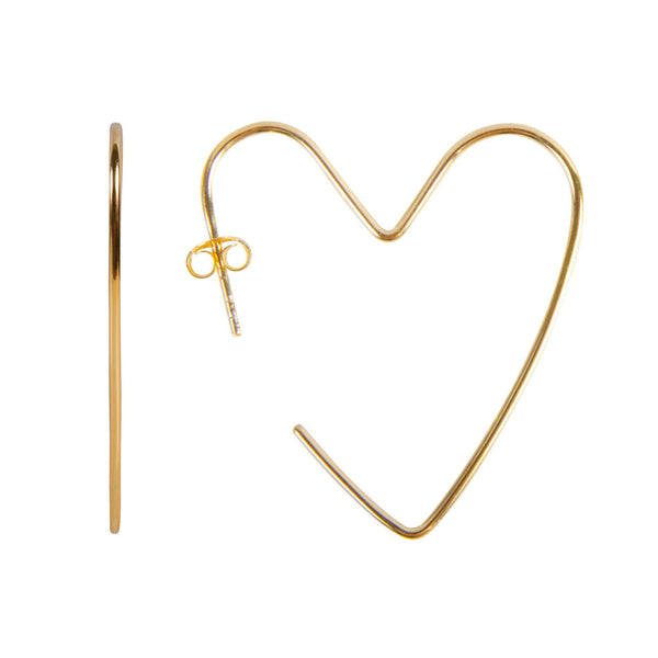 Earrings Gold Alexa Love Hoops