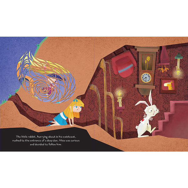 Alice In Wonderland Die Cut Book