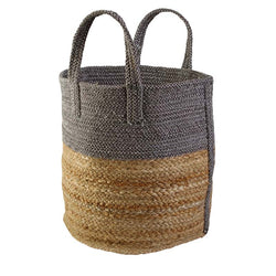 Basket Small Pewter/natural 30cmx30cm.