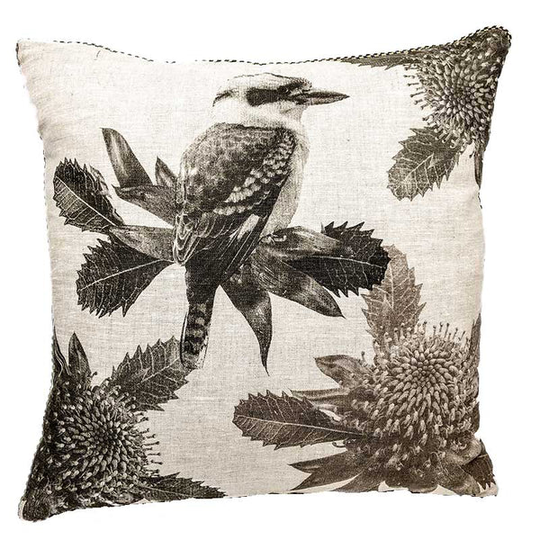 Kookaburra Grey Cushion