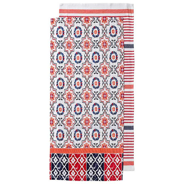 Tea Towel Set/2 Red Fiesta