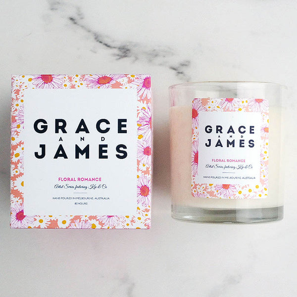 Candle Floral Romance