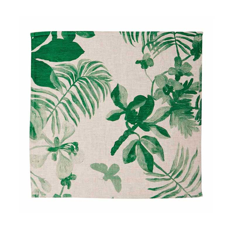 Napkin Set/6 Palms Green