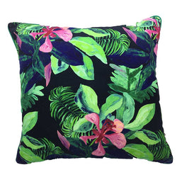 Rainforest Velvet Cushion 50x50cm