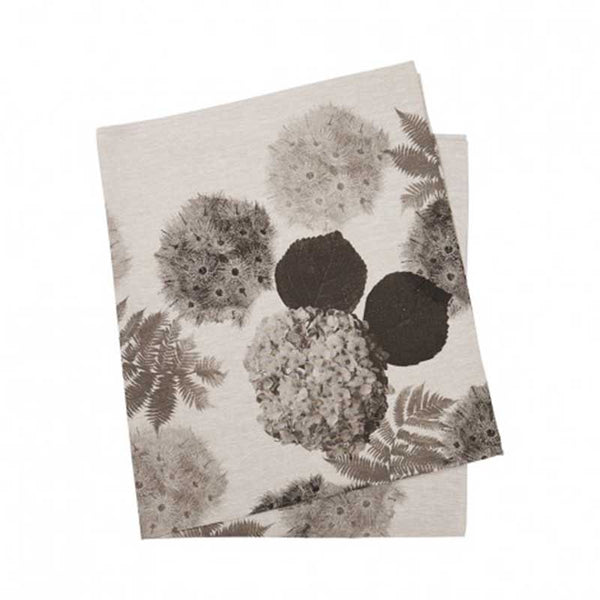 Tablecloth Medium Black Hydrangea