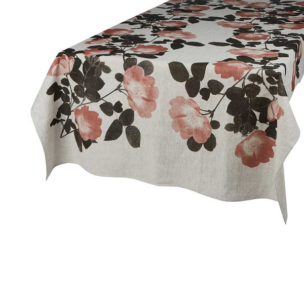 Tablecloth Large Climbing Rose Buff Pink