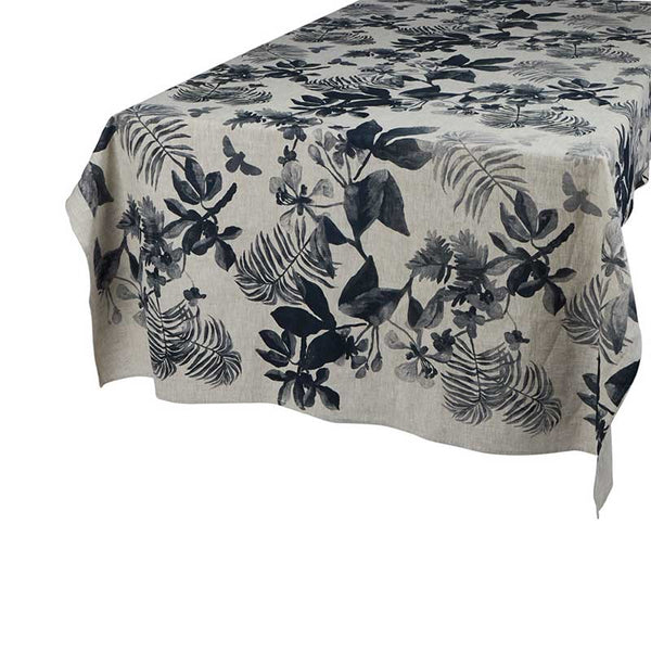 Tablecloth Medium Palms Indigo Oat