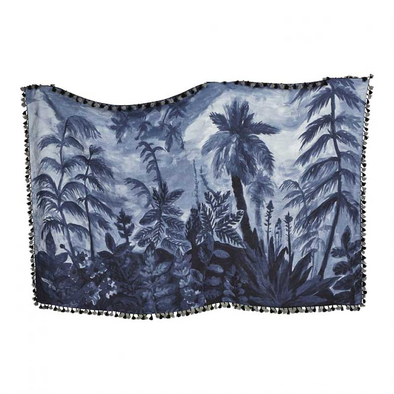 Evergreen Indigo Throw