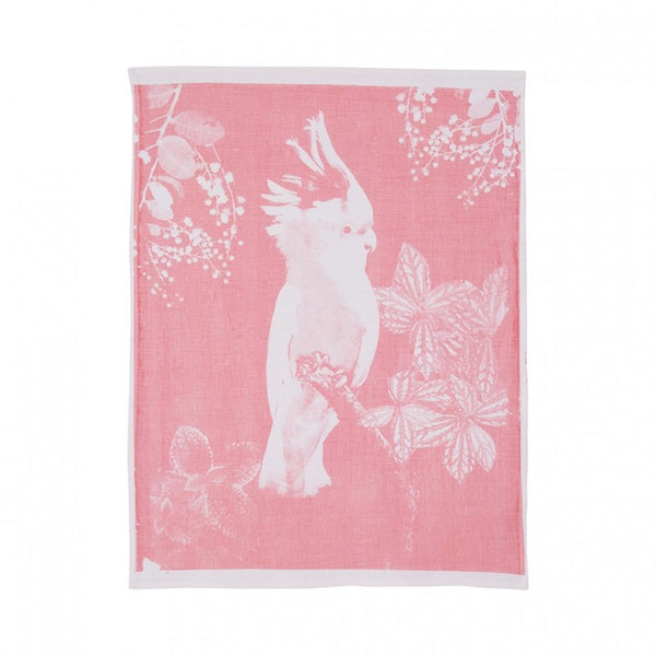 Tea Towel Cotton Big Major Candy Pink