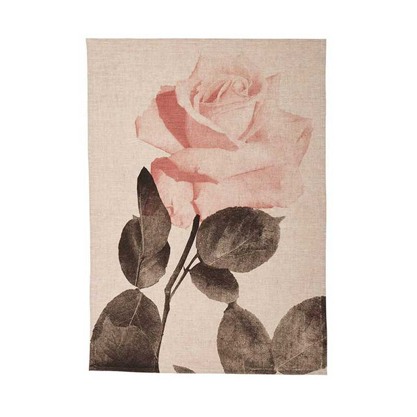Tea Towel Rosa Buff Black