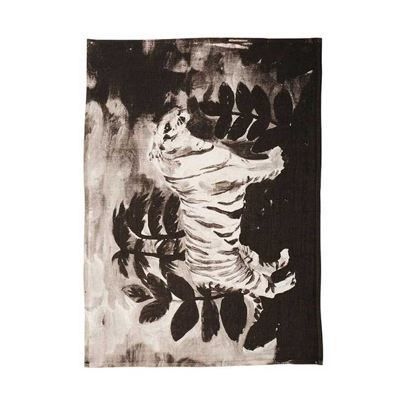 Tea Towel Black Tiger