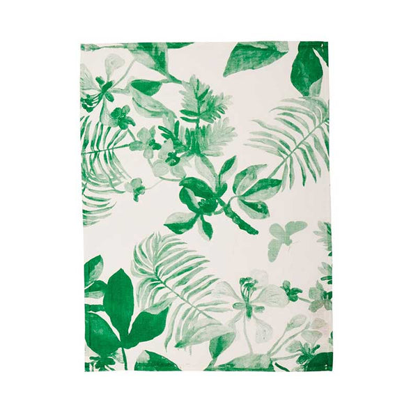 Tea Towel Green Palms