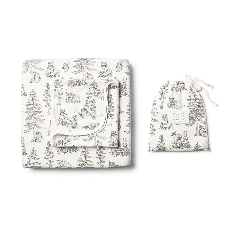 Cot Sheet Set Petit Foret