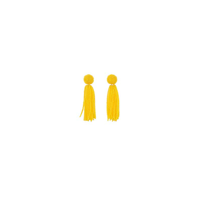 Earrings Yellow Gala Tassel