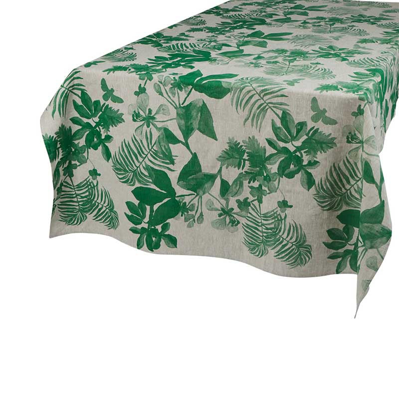 Tablecloth Medium Palms Green Oat