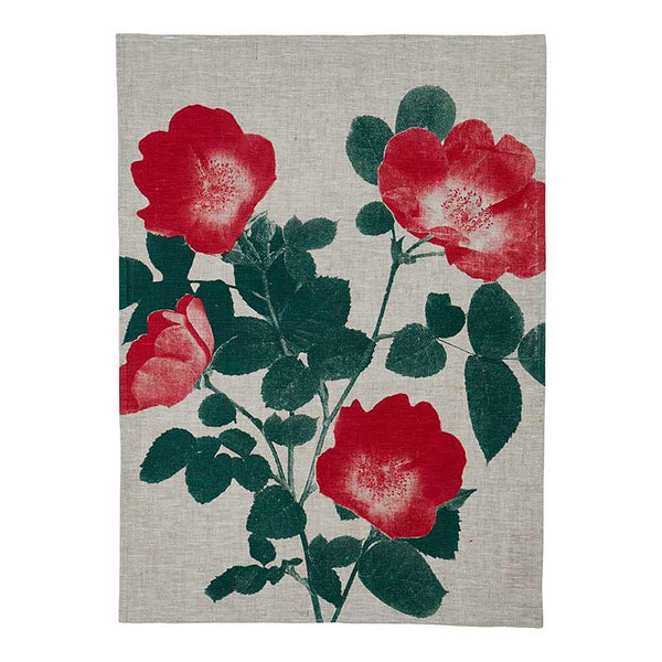 Tea Towel Red Climbing Rose