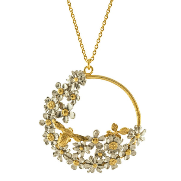 Necklace Spring Posy Loop Gold & Silver Mix