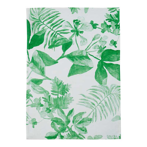 Tea Towel Palms Light Green