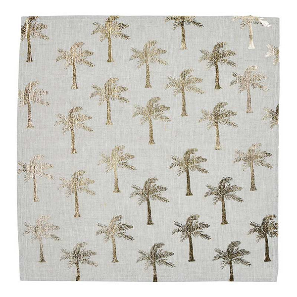 Napkin Set/6 Tiny Palms Gold