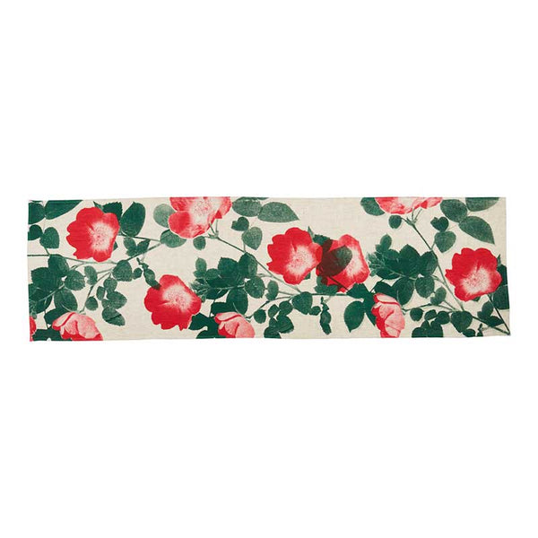 Table Runner Red Climbing Rose