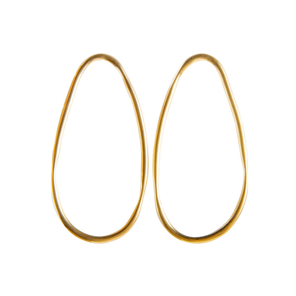 Earrings Gold Ellipse Alexa