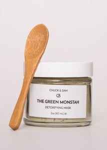The Green Monstah - Chuck & Sam | Goodnight Beauty | bentonite clay, clay mask, clay, essential oil, green tea, made in usa, us brand, natural beauty, natural skin care, acne