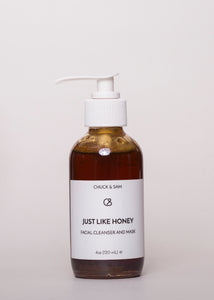 Just Like Honey - Chuck & Sam | Goodnight Beauty | honey, cleanser, mask, natural skin care, natural beauty, made in usa, acne