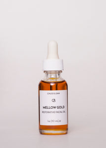 Mellow Gold Restorative Facial Oil - Chuck & Sam | Goodnight Beauty | face oil, serum, made in usa, anti aging, sensitive skin, natural beauty, natural skin care