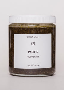 Pacific Body Scrub - Chuck & Sam | Goodnight Beauty | body scrub, pacific, made in usa, us brand, natural beauty, natural skin care