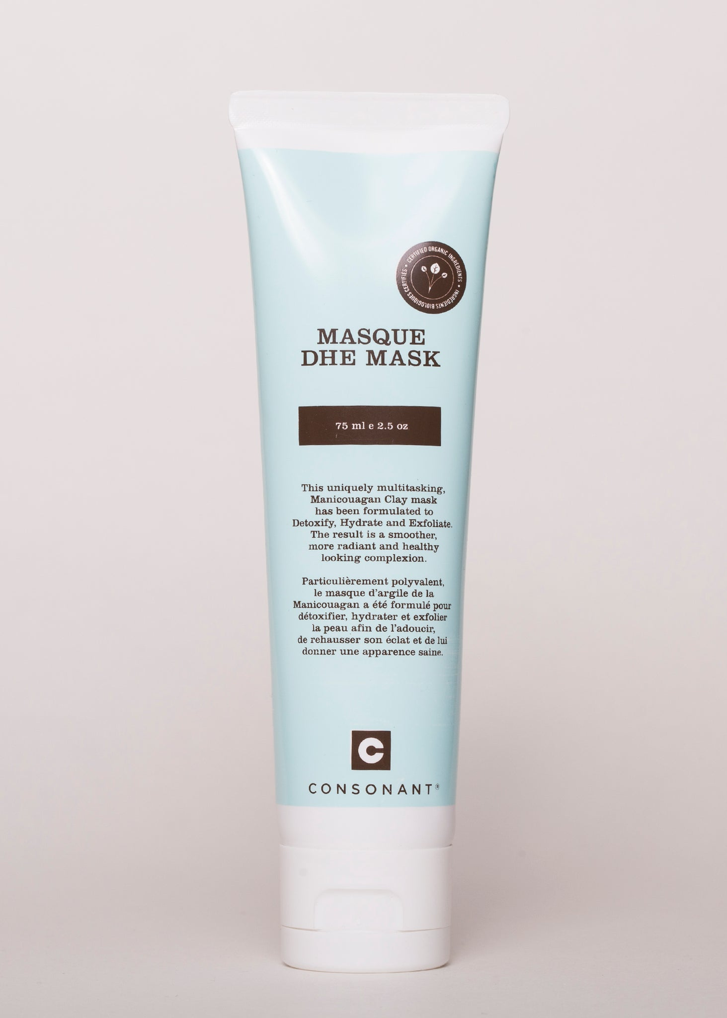 DHE Clay Mask - Consonant Skincare | Goodnight Beauty | made in canada, clay mask, cleanse, skin care, natural beauty