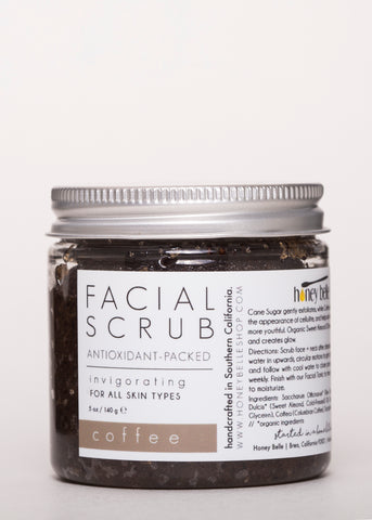 'Coffee' Facial Scrub - Honey Belle | Goodnight Beauty | exfoliator, honey belle, oily skin, natural skin care, natural beauty, made in usa, us brand, body care