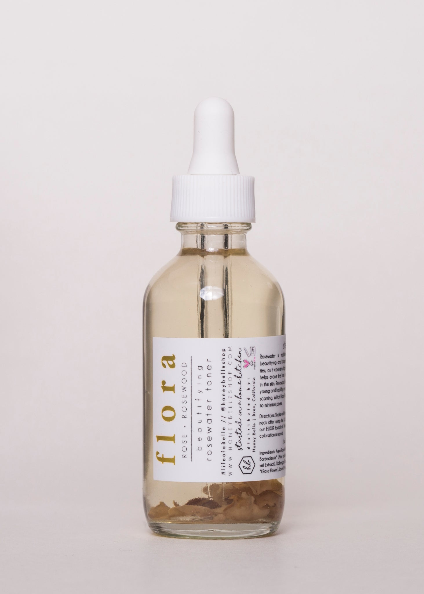 FLORA - Honey Belle | Goodnight Beauty | rosewater, toner, honey belle, natural skin care, natural beauty, made in usa, us brand, acne, dry skin