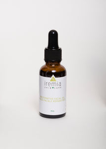 Iremia Skincare Restorative Oil provides hydration and improves scarring