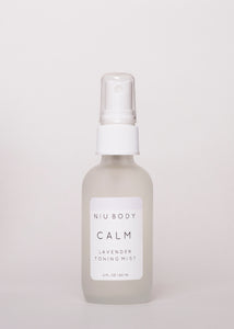 Calm Lavender Toning Mist - Niu Body | Goodnight Beauty | toner, face mist, essential oil, lavender, natural beauty, natural skin care, skin care, canada beauty, canada brand, made in canada