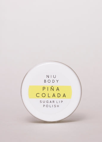 Piña Colada Lip Polish - Niu Body | Goodnight Beauty | coconut oil, made in canada, canada brand, canada beauty, natural beauty, natural skin care