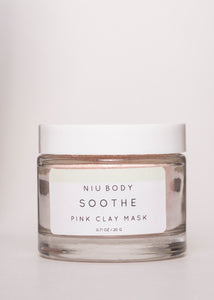 Soothe Pink Clay Mask - Niu Body | Goodnight Beauty | clay mask, clay, kaolin clay, french pink clay, natural beauty, natural skin care, canada brand, canada beauty, made in canada