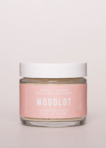Fresh Face Exfoliant - Woodlot | Goodnight Beauty | natural skin care, natural beauty, canada beauty, canada brand, made in canada, dry skin, cleanser, combination skin