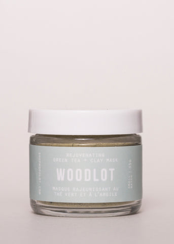 Rejuvenating Green Tea Clay Mask - Woodlot | Goodnight Beauty | clay mask, Glacial clay, Bergamot, essential oil, clay, woodlot, natural skin care, natural beauty, canada brand, canada beauty, made in canada