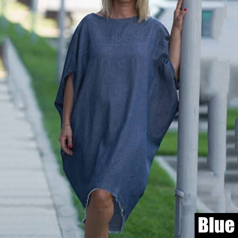 Denim Mid-Calf Dress