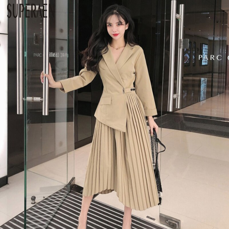 Long Sleeve Suit Dress