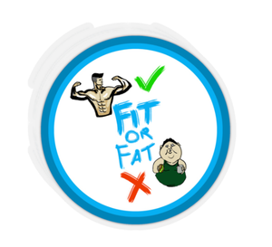 stickers with the fitorfat logo sticker