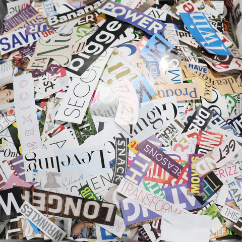 recycled magazine clippings
