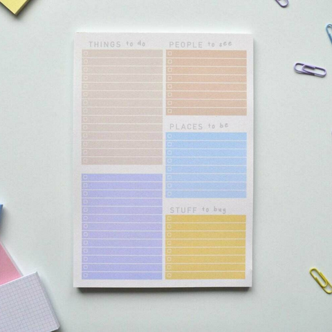 eco-friendly to-do list pad
