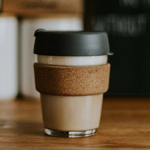 keepcup reusable glass coffee mug