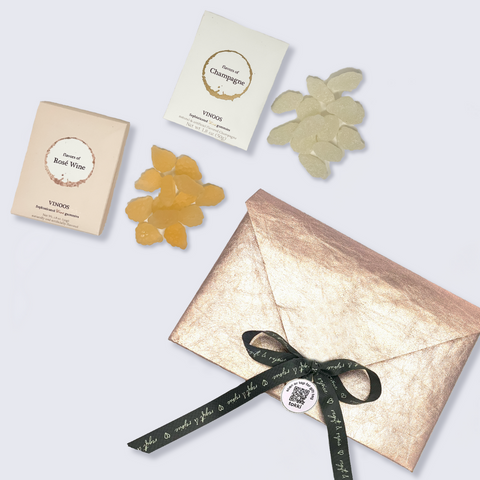 deluxe wine gummies and shiny eco envelope