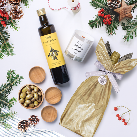 olive oil wrapped gift set