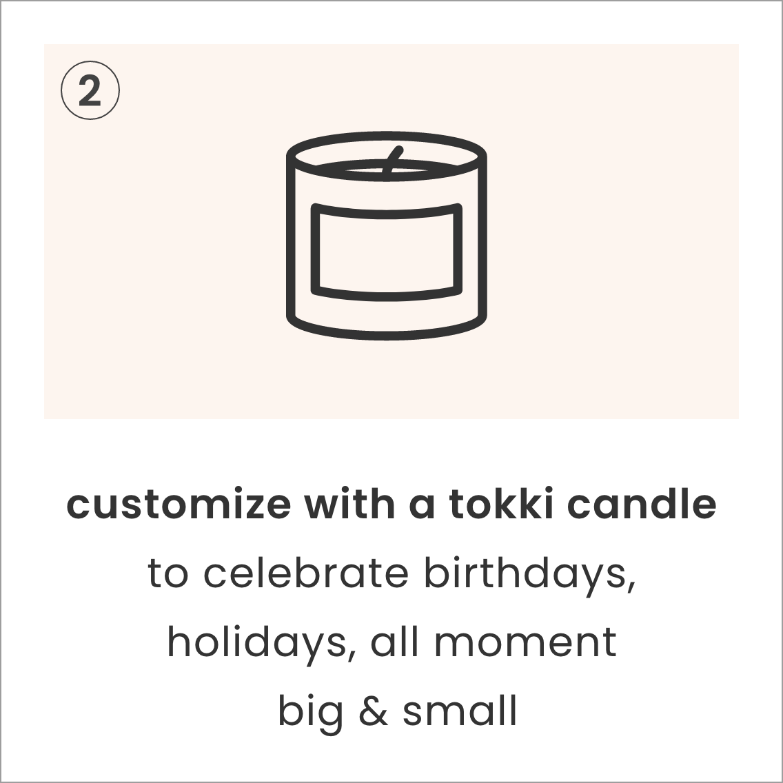 customize with a tokki candle