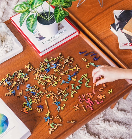wooden puzzle it out gift set